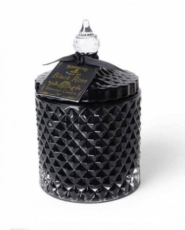 Black Rose Gothic Scented Candle In Vintage Jar Large
