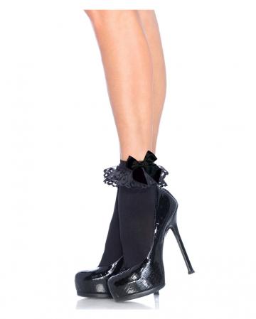 Black socks with bow