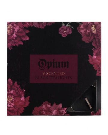 Black Tea Lights Opium Perfumed 9 Pcs.