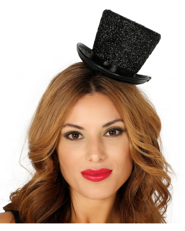 Black Mini Top Hat Glossy
