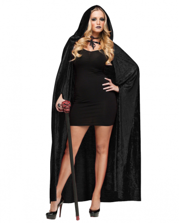 Velvet Cape With Hood Black