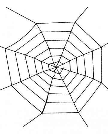 Schwarzes Spinnennetz 100 cm