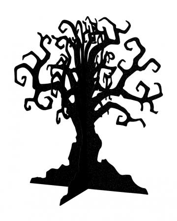 Haunted Tree Halloween Table Decoration Black