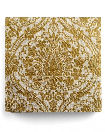 Napkins Luxury Ornament gold-beige 15 pcs.