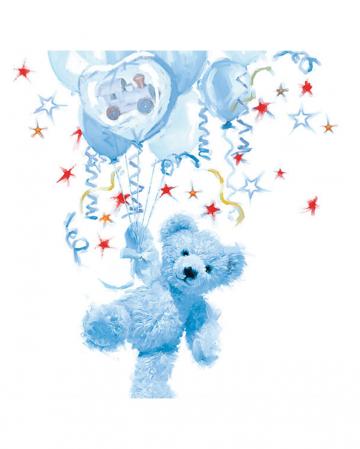 Servietten Teddy Boy blau 20 St.