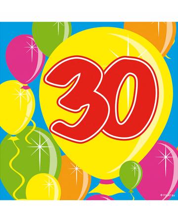 Servietten Ballon 30