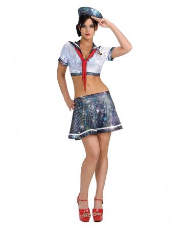 Sexy Sailor Glitter Costume
