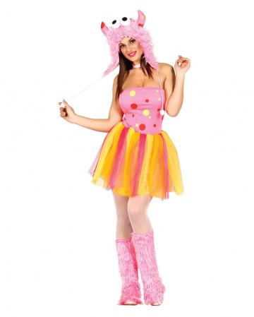 Sexy Furry Pink Monster Damenkostüm