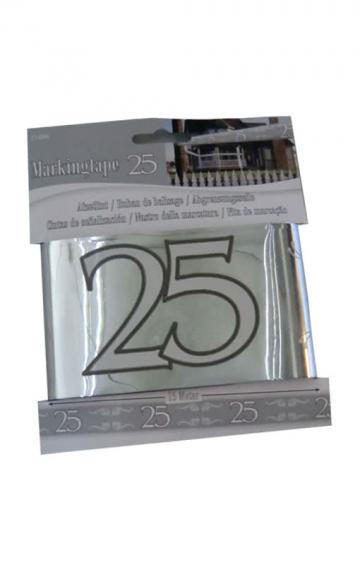 Silver wedding barrier tape