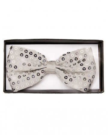 Silver Sequined Bow Tie Deluxe