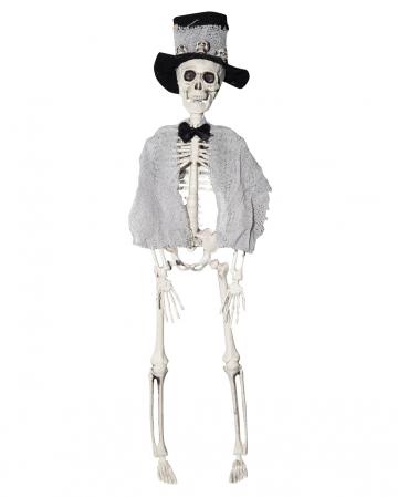 Skelett Bräutigam mit Zylinder 40cm