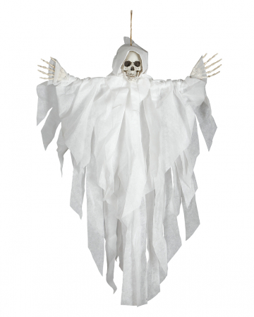 Skeleton Hanging Figure White 75cm