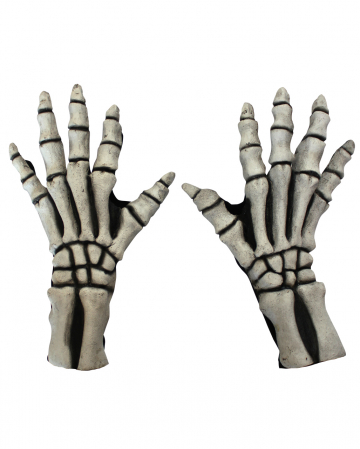 Skeleton Gloves White
