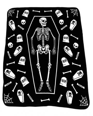 Skeleton With Tombstones Bedspread