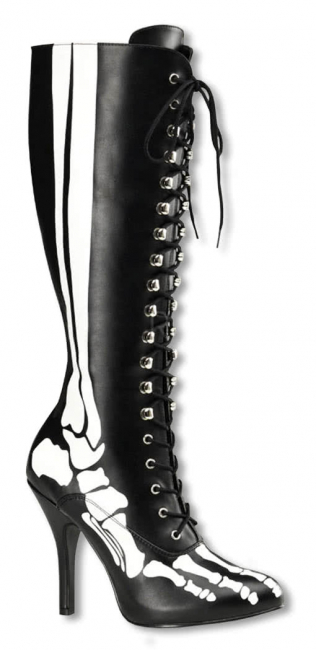 Skeleton boots with laces