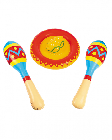 Sombrero & Maracas aufblasbar