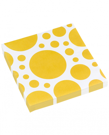 Summer Yellow Dots Napkins 20 Pcs.