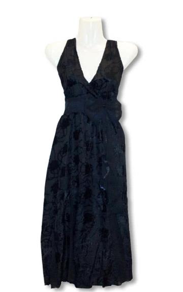 Black summer dress with Flock Print