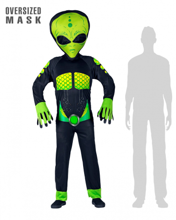 Space Alien Overall With Giant Mask