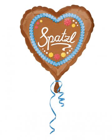 Spatzl Gingerbread Heart Foil Balloon