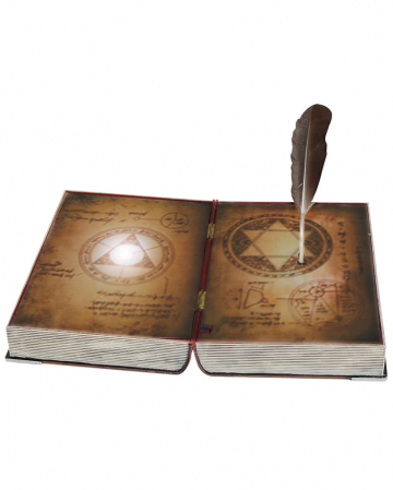 Spellbook with flexible spring