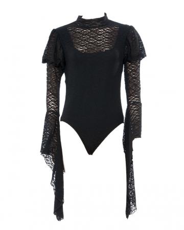 Spitzen Bodysuit schwarz