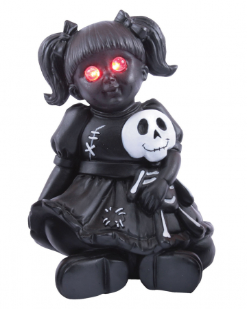 Spooky Doll With Red LED Eyes