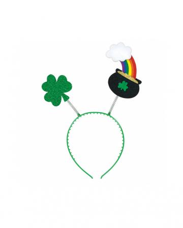 St. Patricks Day Hairband Shamrock U. Rainbow