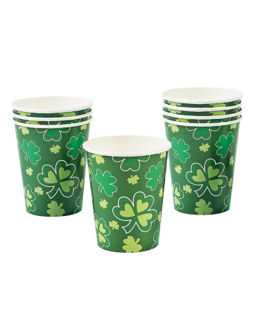 St. Patrick's Day Paper Cups 8 Pcs.