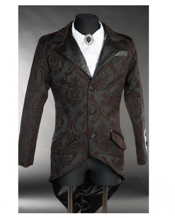 Steampunk Brokat Jacket mit Schwalbenschwanz