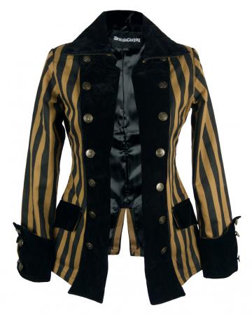 Ladies Pirate Jacket Steampunk Stripes