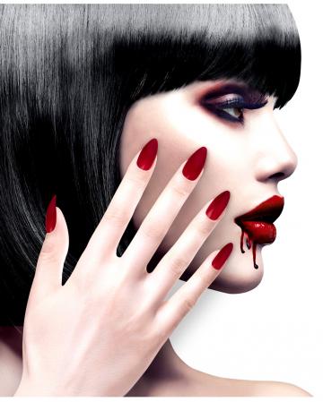 Stileto Fingernails Bordeaux Red 12 Pcs.