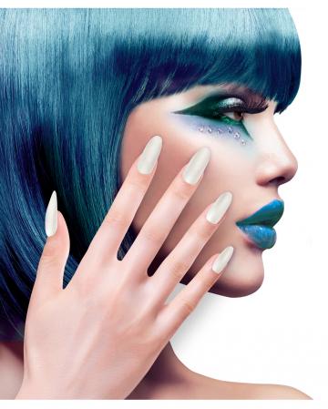 Stiletto Fingernails Mother Of Pearl Effect 12 Pcs.