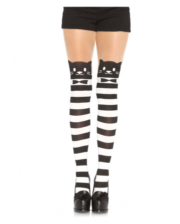 Striped Cat Pantyhose