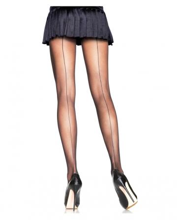 Fine tights with black seam