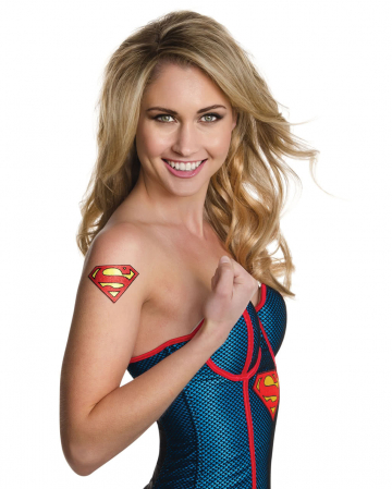 Supergirl Glitter Tattoo