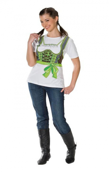 T-shirt green Dirndl Plus Size