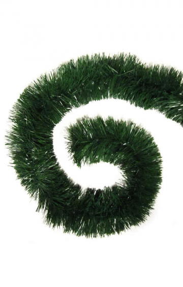 Green Tinsel Garland 4 m