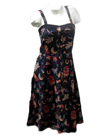 Tattoo Dress Blk size M