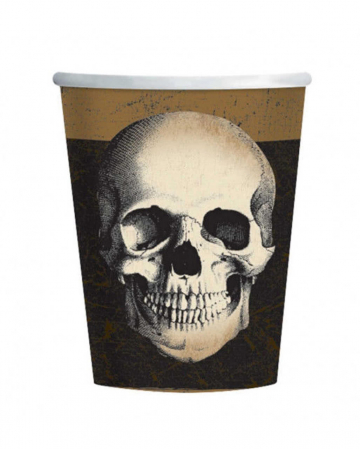 Skull Boneyard Paper Cup 10 St.