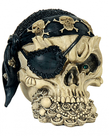 Skull With Pirate Cloth & Eye Patch