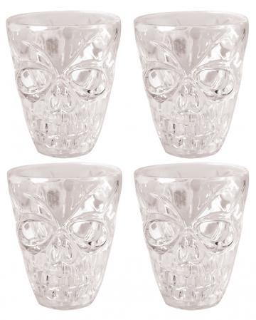 Totenkopf Shotglas 4 Stück