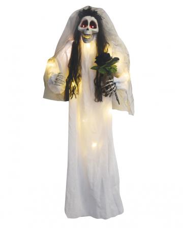 Totenschädel Braut mit Bouquet