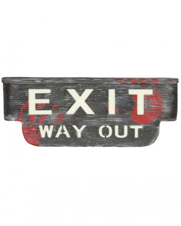 Exit Way Out Schild mit Licht & Sound
