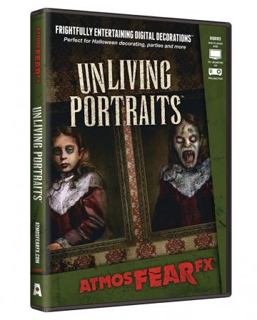 Unliving Portraits TV Halloween Effect DVD