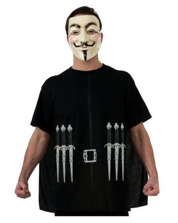V For Vendetta T-shirt Cape & Mask
