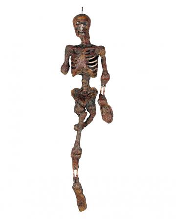 Burned Skeleton Hanging Figure With Light 100cm