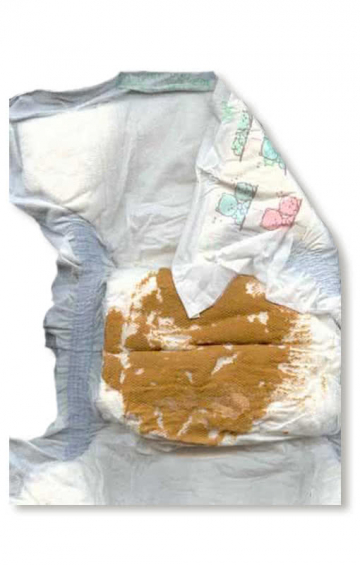 Vollgekackte diaper as a joke article