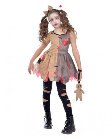 Voodoo Doll Mädchenkostüm