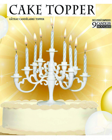 White Candlestick For Cakes & Tarts